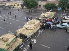 tanks impose martial law