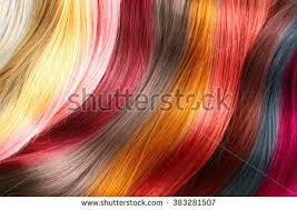dyed hair various colored strands