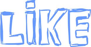 like in blue ink