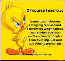 Tweety bird on calories