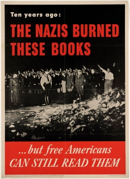 Nazi burn these books