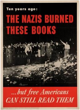 Nazi burn these books