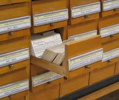 card catalog-open drawer