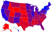 states red amd blue