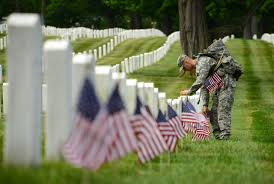 American Flag at Arlington Cemetary