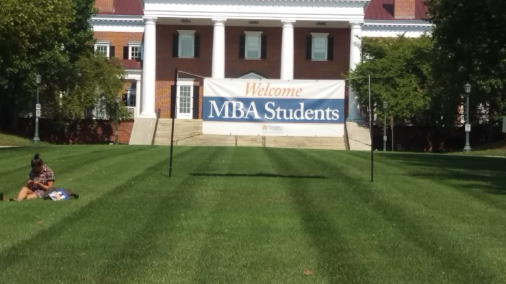 Back to school MBA students