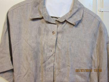 Ann's blouse w ith jet fuel stain