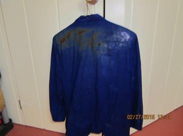 Ann's burnt blue suit jacker