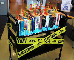 Banned Book Week Bookcart