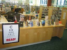 Banned Book Week LIbrary Display