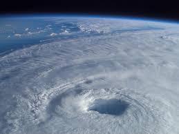 Hurricane eye from space