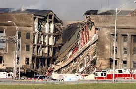 Pentagon-damaged wall