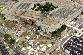 Pentagon--overhead view of the damage