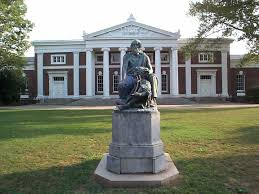 UVA with JEfferson's statue