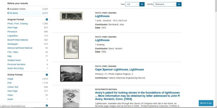 Light House LIbray search in new LC portal