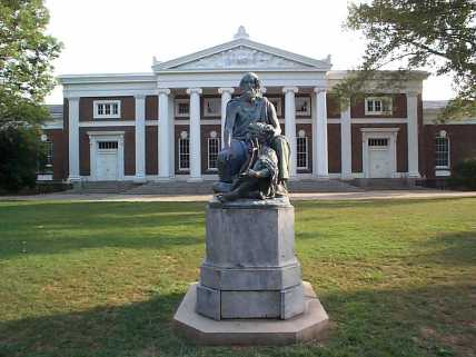 Old_Cabell_Hall_and_Homer_University_of_Virginia
