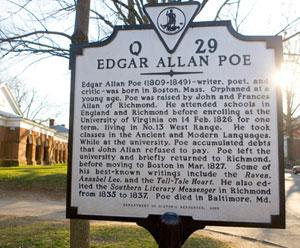 Poe history marker