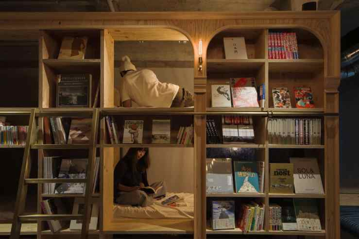book and bed japan