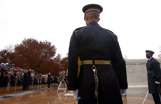 president commemorates veterans day