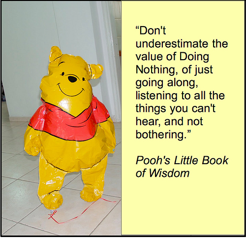 winnie the pooh value of donig nothing