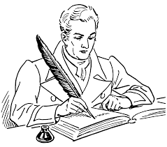 writer with quill pen