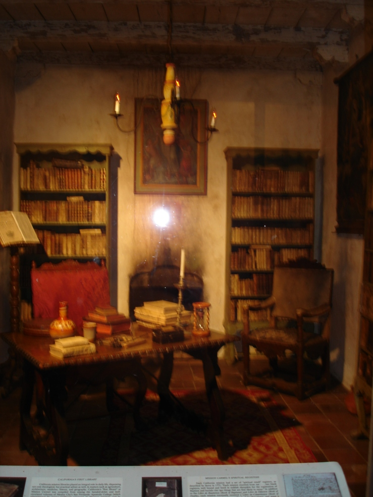 Allegedly First Library in California-Carmel Mission, Carmel by the Sea, California