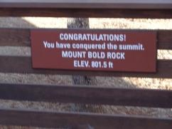 Bold Rock--Reaching the Summit