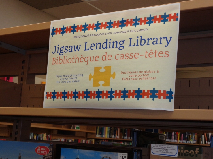 Library has a Jig Saw Puzzle Collection