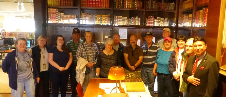 Midway volunteers at SD Library Rarebook Room 9 Apr 16