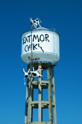 water tower--eat more chicken