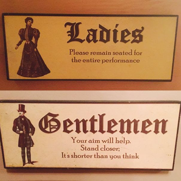 bathroom signs--victorian