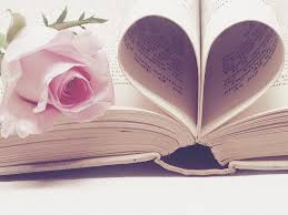 valentine book with rose