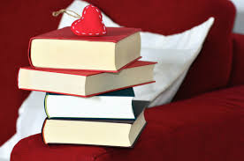 valentine stack of books