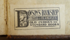 book plate old book store