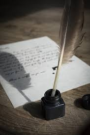 quill pen and parchment