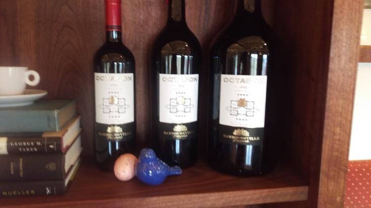 Three different sizes of Octoagon wine