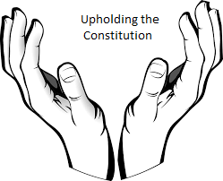 upholding hands the constitution