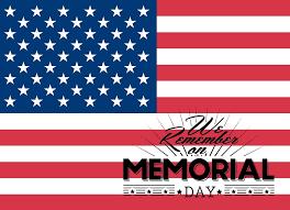 Memorial Day flag remembering