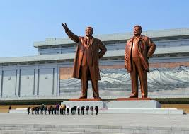 North Korean statues