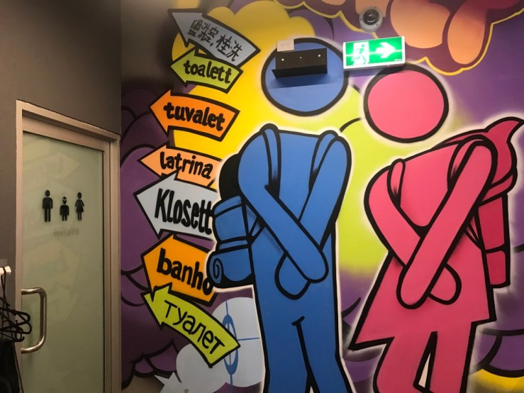 Bathroom mural in Melbourne, Australia