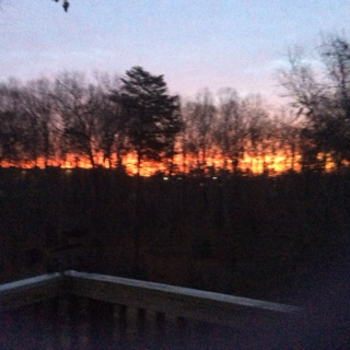 sunrise from wendy's porch