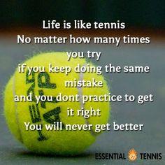 Tennis quote--racket
