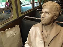rosa parks in her bus