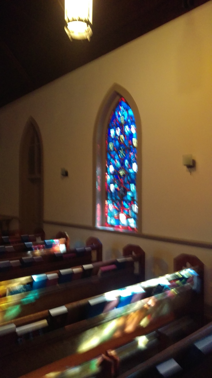 Sunlight falling through stained glass SPI 2