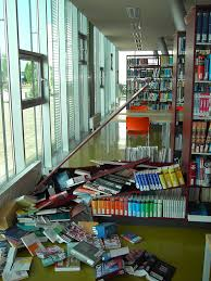 book shelves falling over