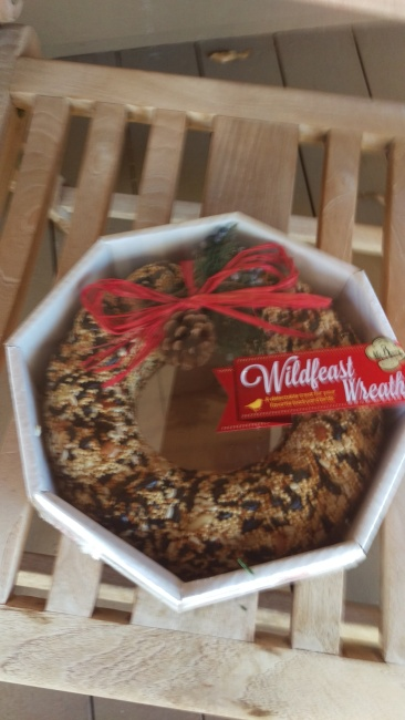 squirrel wreath in the package