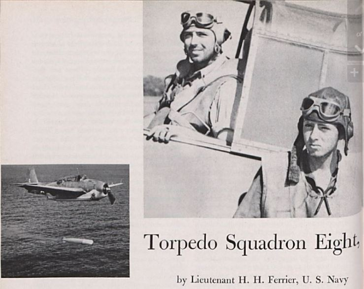 usni photo of topedo squadron eight