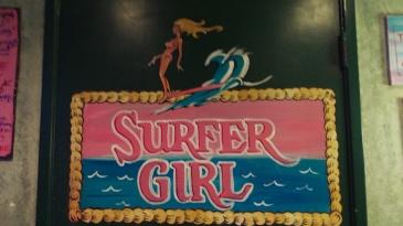 Bathroom--Baja Beach Cafe Surfer girl