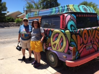 Gail and Pat at the Hippie Emporium, Cottonwood, AZ June 2017