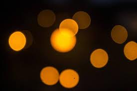 orange points of light